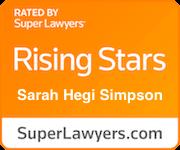 Super Lawyer Rising Star Sarah Simpson